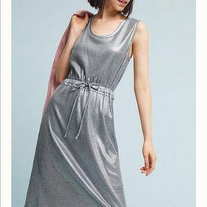Anthropologie Dolan Silver Dress